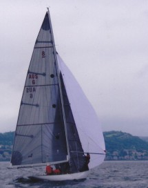 Saskia flying spinnaker
