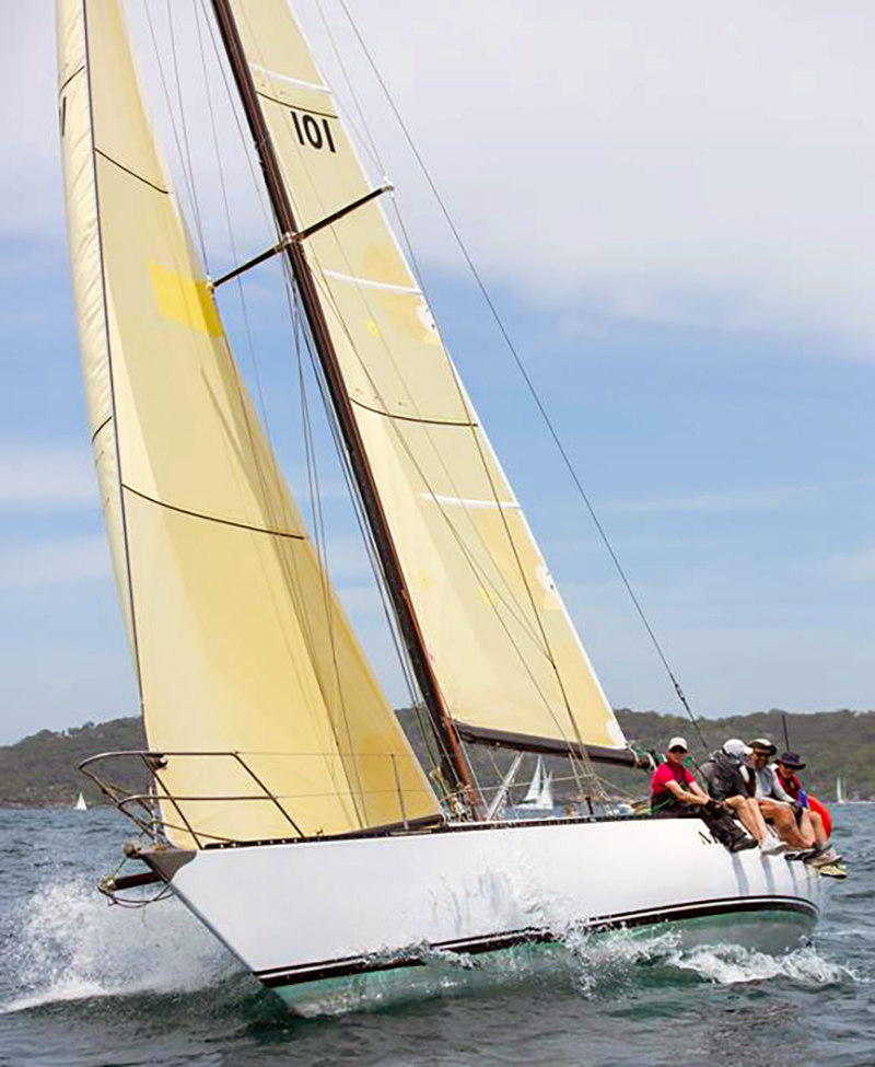 CYCA Trophy Race Mark Twain 2018 Ian short sails